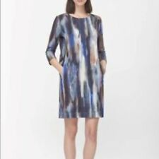 COS watercolor print shift dress, M