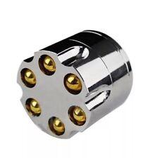 "2"" Silver Aluminum Revolver Bullet Tobacco Spice Herb Mill Grinder"
