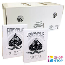 12 DECKS BICYCLE GHOST WHITE ELLUSIONIST PLAYING CARDS MAGIC SEALED BOX CASE NEW