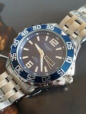 QUALITY DIVE WATCH BY GERMAN BRAND Eichmuller BLUE DIAL +SOLID S-STEEL BRACELET