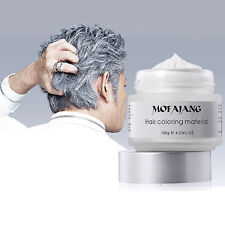 Silver Ash Hair Modeling Pomade Wax Colorants Natural Hairstyle Men Women 120g