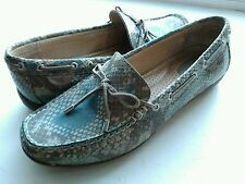 Women's Sperry shoes, size 7/8 Narrow, Snake Skin & Leather Deck Loafers