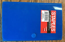NEW_STAPLES Brand Expandable COUPON FILE_Royal Blue_Glossy_13 Pocket Poly_4 x 6