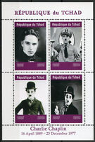 Chad 2019 MNH Charlie Chaplin Hitler 4v M/S Actors Famous People Stamps