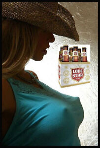 LONESTAR BEER SEXY GIRL