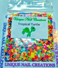 Limited Edition Glitter Mix~TROPICAL TURTLE* Comes With Alloy~ Nail Art