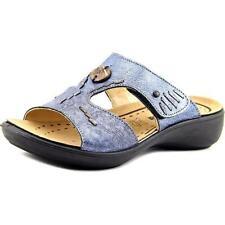 Sandalias y chanclas de mujer de tacón medio (2,5-7,5 cm) de color principal azul Talla 36