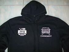 NEU JEEP CHEROKEE V8 Kapuzenpulli hoodie schwarz veste jacket jacke vest gilet