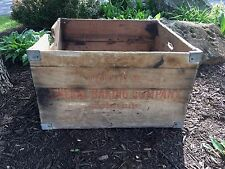 Bond Bread General Baking Company Baltimore Maryland Wood Wooden Box Crate