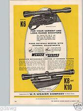 1960 PAPER AD Weaver Rifle Scope Telescope K8 K10 K6 El Paso Texas