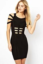 Latest fashion design black bandage dress