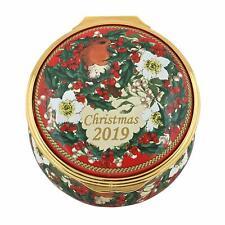Halcyon Days 2019 Christmas Box #Ench190101G Brand Nib Enamel Flowers Save$ F/Sh