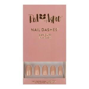RED ASPEN Reusable Nail Dashes  Kit Medium Caramel Heidi Square Shiny 24 Nails