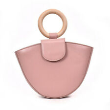 Solid Color PU Hand Bags - Pink (EFG070609)