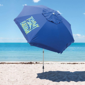 **NEW**2020 TOMMY BAHAMA Blue Beach Umbrella With Carry Bag 8 Ft