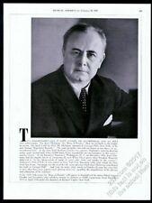 1939 Josef Hofmann photo piano recital tour booking vintage trade print ad