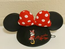 Disney Theme Parks Minnie Mouse Love and Kisses Polka Dot Bow Ear Hat CapYouth