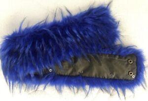 XXL Kunstfell Blau Für Kapuze Pelz Blogger