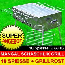 MANGAL MEGA Schaschlik Grill aus Edelstahl + 10 Spiesse GRATIS + MODEL 2021