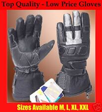 SILVER DEVIL Leather Textile Waterproof  MOTORCYCLE Gloves XXL SALE CLEARANCE