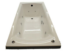 Carron Delta 1650mm 11 Jet Whirlpool Spa Bath | White Acrylic | Jacuzzi Spa