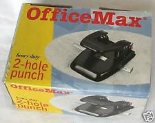 Black OfficeMax 2-Hole Punch Office Equipment