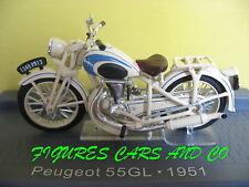 MOTO CLASSIQUE 1/24  125 PEUGEOT 55 GL 1951  MOTORRAD MOTORCYCLE