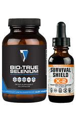 Escudo de supervivencia X-2 naciente yodo + Bio-verdadero selenio orgánico-Info guerras