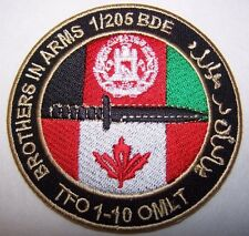 Canada Canadian OMLT 1-205 Brigade Task Force 1-10  Afghanistan Patch
