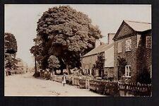 Overton on Dee - School Lane - real photographic postcard