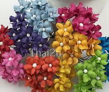 500 Small Rainbow Wholesale Paper Flower Scrapbook Wedding Roses Craft BPS15-427