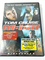 Mission Impossible III DVD Tom Cruise w/ Bonus Footage Disc WS New & Sealed