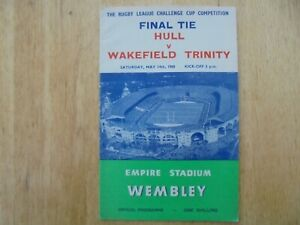 HULL V. WAKEFIELD TRINITY - 1960 RL CHALLENGE CUP FINAL