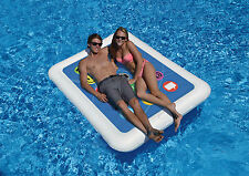 Swimline Smart Tablet Double Float Inflatable Swimming Pool Toy Raft Water Fun