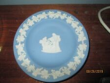 "Vintage Wedgwood Blue Jasperware 4"" Trinket Dish Tray"