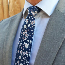 Suit Game Strong Skinny Tie - Midnight Bloom