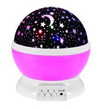 LED Rotating Star Projector Baby Night Light Nursery Children Room Lighting Lamp