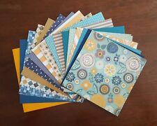 Blue and Gold Mix 6x6 Scrapbook Paper Pack Assorted Sheets