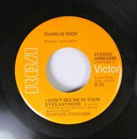 Country 45 Charlie Rich - I Don'T See Me In Your Eyes Anymore / No Room To Dance