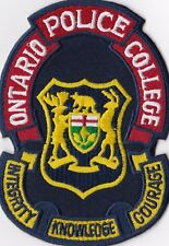 Ontario College Police Patch Canada