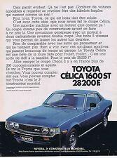 Publicité Advertising 016 1977 Toyota Célica 1600 ST