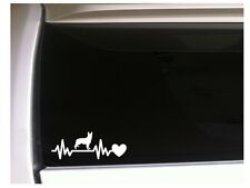 "German Shepherd Heartbeat Lifeline vinyl car decal 7.5"" *M40 Pets Sticker Dog"