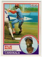 1983 WILLIE MCGEE ST LOUIS CARDINALS ROOKIE RC OPC O PEE CHEE BASEBALL CARD #49