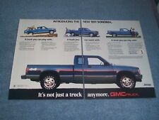 """1991 GMC 4x4 Sonoma Vintage 2pg Ad """"Introducing the New..."""" S15 S10"""