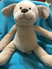 Piccolo Bambino plush Tan Puppy Dog stuffed animal sewn eyes