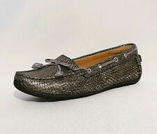 Clarks Metalic Animal Genuine Leather Loafers Flats Pumps Shoes Ladies Uk 2.5 E