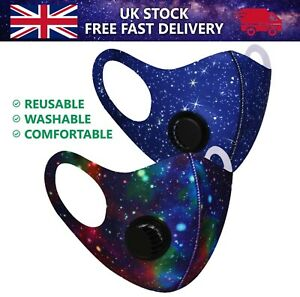 Espace Galaxy Visage Masque Protection Bouche Housse Lavable Réutilisable Air À