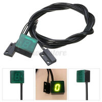 LED Digital Gear Indicator For Motorcycle Bike Meter Shift Lever Sensor Green