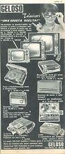 GELOSO TELEVISORI - ELETTRODOMESTICI - ADVERSITING