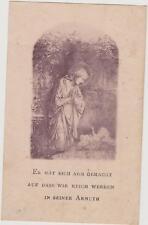 IMAGE PIEUSE-HOLY CARD SANTINI/LA VIERGE MARIE ET JESUS-LANGUE GERMANIQUE